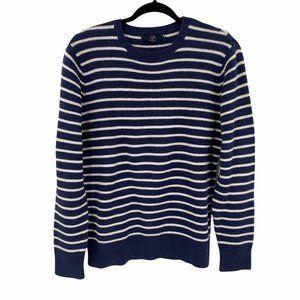 J. Crew Mens Striped Cotton Crewneck Sweater